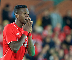 ADELAIDE, AUSTRALIA - Monday, July 20, 2015: Liverpool's Divock Origi looks dejected after missing a chance against Adelaide United during a preseason friendly match at the Adelaide Oval on day eight of the club's preseason tour. (Pic by David Rawcliffe/Propaganda)