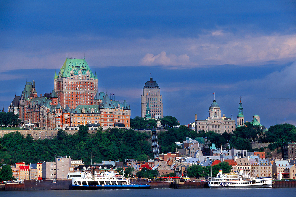 Quebec City from the St. Lawrence River, Quebec, Canada