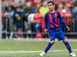 04.06.2017, Kunstrasen, Kirchberg, AUT, 20. Cordial Cup 2017, FC Barcelona vs FC Bayern München, U11 Finale, im Bild Pol Trigueros Puerta (FC Barcelona) // during the 20. Cordial Cup Under 11 final match between FC Barcelona and FC Bayern München at the Kunstrasen, Kirchberg, Austria on 2017/06/04. EXPA Pictures © 2017, PhotoCredit: EXPA/ Stefan Adelsberger