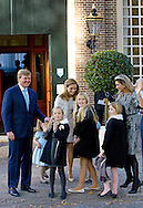 Apeldoorn, 09-11-2014<br /> <br /> <br /> Members of the Dutch Royal Family attend the Christening of Willem Jan van Vollenhoven, son of Prince Floris and Princess Aimee.<br /> <br /> Photo: Bernard Ruebsamen/Royalportraits Europe