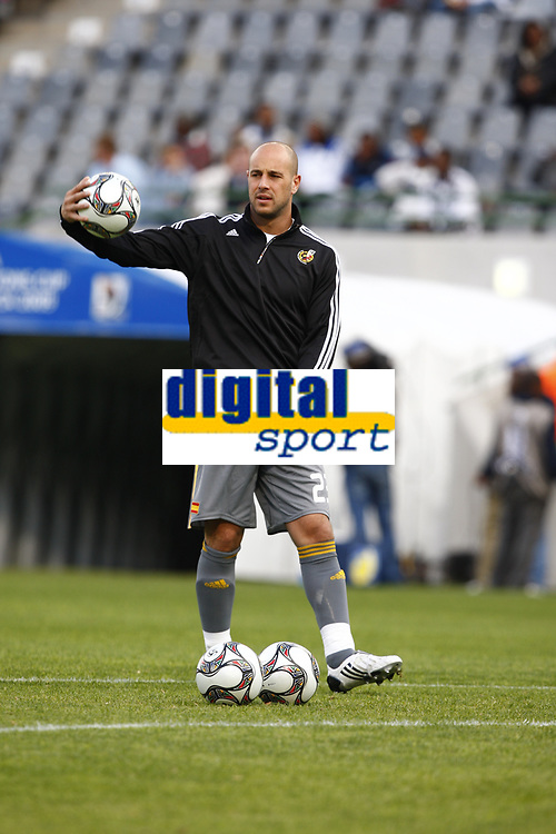 Fotball<br /> Confederations Cup<br /> Spania v Irak<br /> 17.06.2009<br /> Foto: Colorsport/Digitalsport<br /> NORWAY ONLY<br /> <br /> Jose Manuel Reina of Spain<br /> <br /> FIFA Confederations Cup South Africa 2009 <br /> Spain v Iraq Group B at Free State  Stadium Mangaung / Bloemfontein South Africa