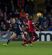 8th May 2018, Global Energy Stadium, Dingwall, Scotland; Scottish Premiership football, Ross County versus Dundee; Roarie Deacon of Dundee and Davis Keillor-Dunn of Ross County