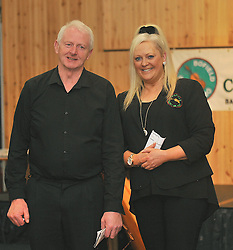 Pictured are Mary Murray at the opening night of the  Bofield Comhaltas  summer season of Sesiúns. from left Martin Hughes Botton Accordian