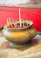 Incense burning Wat Intharawihan Bangkok Thailand&#xA;<br />