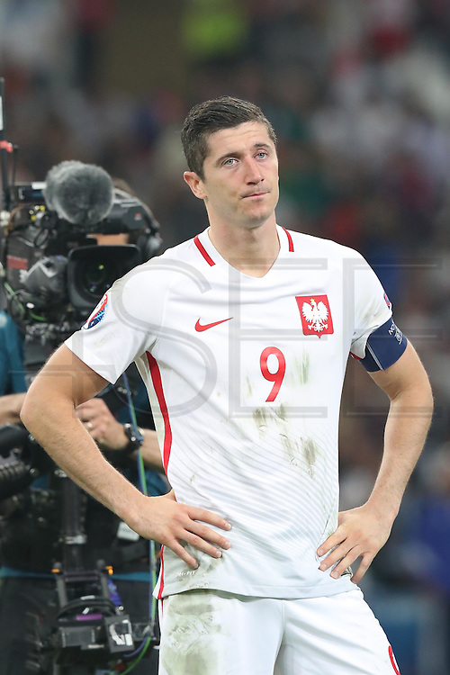 MARSEILLE, FRANCE, 06.30.2016 - PORTUGAL-POLAND -Robert Lewandowisk of Poland in the match against Portugal valid for the quarterfinals of Euro 2016 at the Velodrome stadium in Marseille, on Thursday (30).