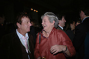 Nicky Haslam and Lynn Barber, The Literary Review's Bad Sex Awards. annual ceremony for authors who write about sex in a 'redundant, perfunctory, unconvincing and embarrassing way. In and Out Club. London.  1 December  2005. ONE TIME USE ONLY - DO NOT ARCHIVE  © Copyright Photograph by Dafydd Jones 66 Stockwell Park Rd. London SW9 0DA Tel 020 7733 0108 www.dafjones.com