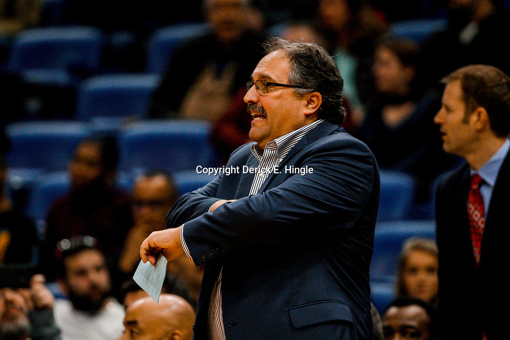 Jan 8, 2018; New Orleans, LA, USA; Detroit Pistons head coach Stan Van Gundy against the New Orleans Pelicans during the first quarter at the Smoothie King Center. Mandatory Credit: Derick E. Hingle-USA TODAY Sports