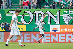 11.05.2019, Allianz Stadion, Wien, AUT, 1. FBL, SK Rapid Wien vs FC Wacker Innsbruck, Qualifikationsgruppe, 30. Spieltag, im Bild Spieler von Rapid feiern den Treffer // players of Rapid celebrate the goal during the tipico Bundesliga qualification group 30th round match between SK Rapid Wien and FC Wacker Innsbruck at the Allianz Stadion in Wien, Austria on 2019/05/11. EXPA Pictures © 2019, PhotoCredit: EXPA/ Florian Schroetter