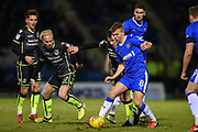 Gillingham FC midfielder Jake Hessenthaler (8)  during the EFL Sky Bet League 1 match between Gillingham and Bristol Rovers at the MEMS Priestfield Stadium, Gillingham, England on 16 December 2017. Photo by Martin Cole.