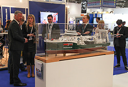 © Licensed to London News Pictures. 11/03/2014. London, UK. Oceanology International (OI), the world's largest exhibition for marine science and technology, gets underway at London's ExCeL Centre. The three day exhibition provides an opportunity for industry, academic and government organisations to share knowledge and promote improvements in technology and strategy used for operating, surveying, protecting and exploiting resources in the oceans of the world. Photo credit : Rob Arnold/LNP