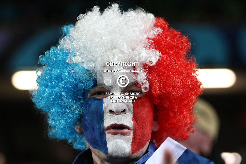 AUCKLAND, NEW ZEALAND - OCTOBER 15, A French fan during the 2011 IRB Rugby World Cup Semi Final match between Wales and France at Eden Park on October 15, 2011 in Auckland, New Zealand<br /> Photo by Steve Haag / Gallo Images