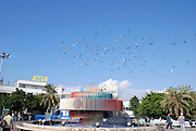 Israel Tel Aviv The Yaacov Agam fountain at Zina Dizengoff circle at the intersection of Dizengoff, Pinsker Zamanhoff and Rienes streets in the centre of the city