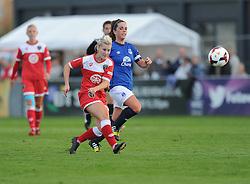 Bristol Academy's Nikki Watts shoots outside the box and scores. - Photo mandatory by-line: Alex James/JMP - Mobile: 07966 386802 23/08/2014 - SPORT - FOOTBALL - Bristol  - Bristol Academy v Everton Ladies - FA Women's Super league
