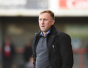 Crawley Town manager Mark Yates during the Sky Bet League 2 match between Crawley Town and Notts County at the Checkatrade.com Stadium, Crawley, England on 16 January 2016. Photo by David Charbit.