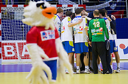 Players of Slovenia after the handball match between Slovenia and Croatia in  2nd Round of Preliminary Round of 10th EHF European Handball Championship Serbia 2012, on January 18, 2012 in Millennium Center, Vrsac, Serbia. Croatia defeated Slovenia 31-29. (Photo By Vid Ponikvar / Sportida.com)
