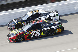August 12, 2018 - Brooklyn, Michigan, United States of America - Martin Truex, Jr (78) and Aric Almirola (10) battle for position during the Consumers Energy 400 at Michigan International Speedway in Brooklyn, Michigan. (Credit Image: © Chris Owens Asp Inc/ASP via ZUMA Wire)
