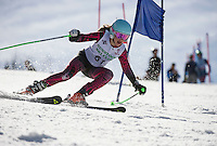Piches Invitational U14 ladies Giant Slalom with Gunstock Ski Club.  ©2016 Karen Bobotas Photographer