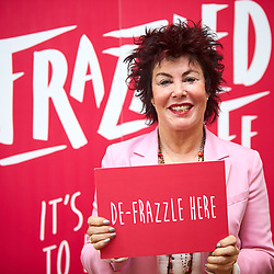 © Licensed to London News Pictures. 14/03/2017. LONDON, UK.  Author and comedienne RUBY WAX pictured at the London Book Fair. She is attending to open the Frazzle Cafe promoting her new book about mental health, A Mindfulness Guide For The Frazzled.  Photo credit: Cliff Hide/LNP