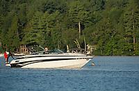 """16.4 mile water ski race """"Winniskiathon"""" on Lake Winnipesaukee August 19, 2012."""