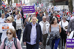 © Licensed to London News Pictures. 29/03/2019. London, UK. The March to Leave March arrives at Parliament after MPs voted against the Withdrawal Agreement in the House of Commons. Photo credit: Peter Macdiarmid/LNP