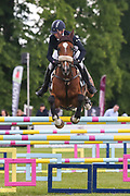 Undalgo De Windsor ridden by Ginny Howe in the Equi-Trek CCI-4* Show Jumping during the Bramham International Horse Trials 2019 at Bramham Park, Bramham, United Kingdom on 9 June 2019.