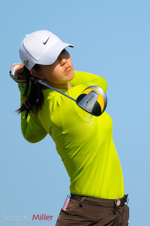 Michelle Wie during the second round of LPGA Qualifying School on the Champions Course at LPGA International on Dec. 4, 2008 in Daytona Beach, FL.....©2008 Scott A. Miller