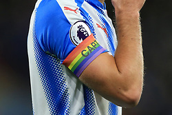 26th November 2017 - Premier League - Huddersfield Town v Manchester City - Jonathan Hogg of Huddersfield wears a rainbow-coloured captain's armband - Photo: Simon Stacpoole / Offside.