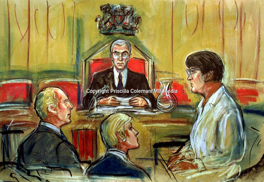 Artist's impression by Priscilla Coleman of Rose West during her trial at Winchester Crown Court. Rose West was convicted of 10 murders at Winchester Crown Court in November 1995 and is serving life in Holloway prison in north London.