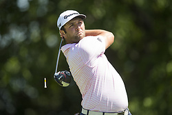 May 26, 2018 - Fort Worth, TX, USA - FORT WORTH, TX - MAY 26, 2018 - Jon Rahm tees off on the 9th hole during the third round of the 2018 Fort Worth Invitational PGA at Colonial Country Club in Fort Worth, Texas (Credit Image: © Erich Schlegel via ZUMA Wire)