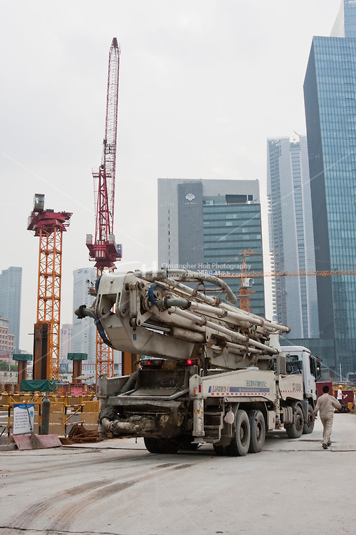 buidling site in Shanghai China