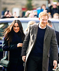 Meghan Markle and Prince Harry head to Social Bite on Rose St Edinburgh, copyright Terry Murden/EdinburghEliteMedia.co.uk 130218