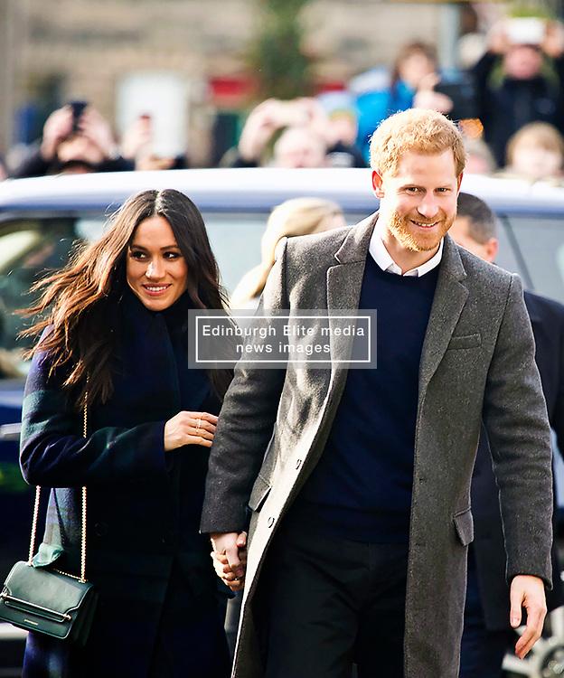 Meghan Markle and Prince Harry head to Social Bite on Rose St Edinburgh, copyright Terry Murden/EdinburghEliteMedia.co.uk 130218
