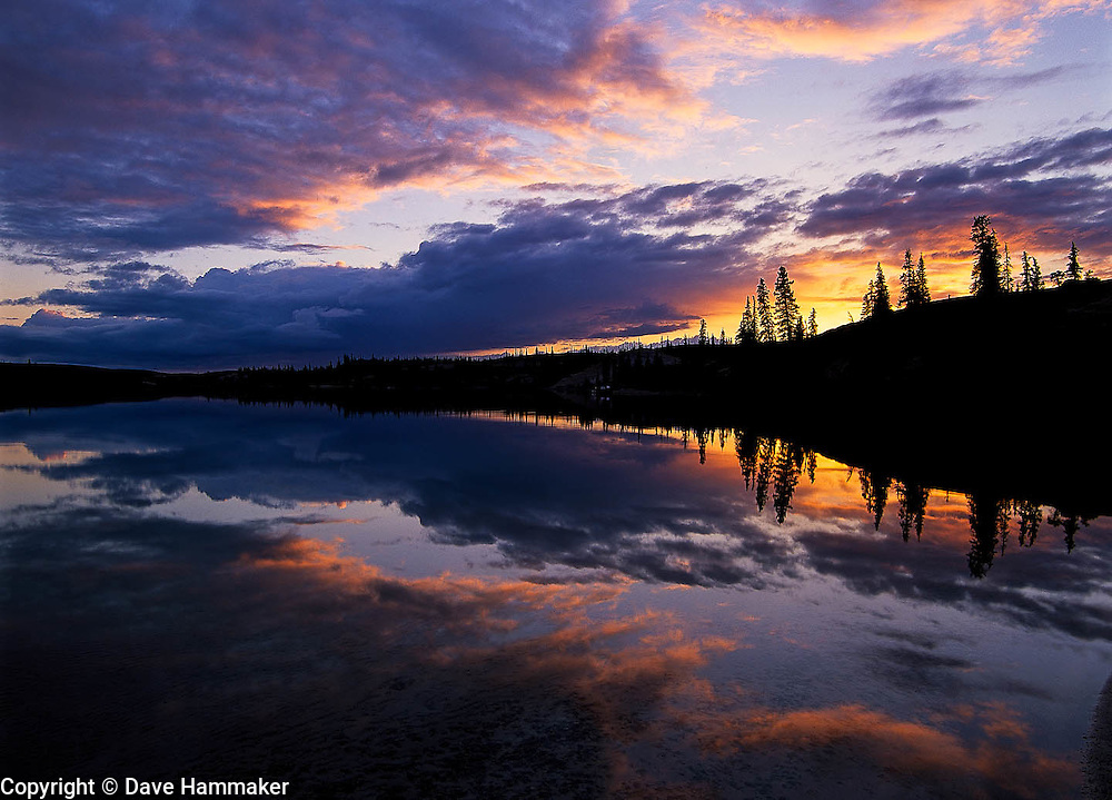 """Sunset at South Camp""  Whitefish Lake, Northwest Territories, Canada"