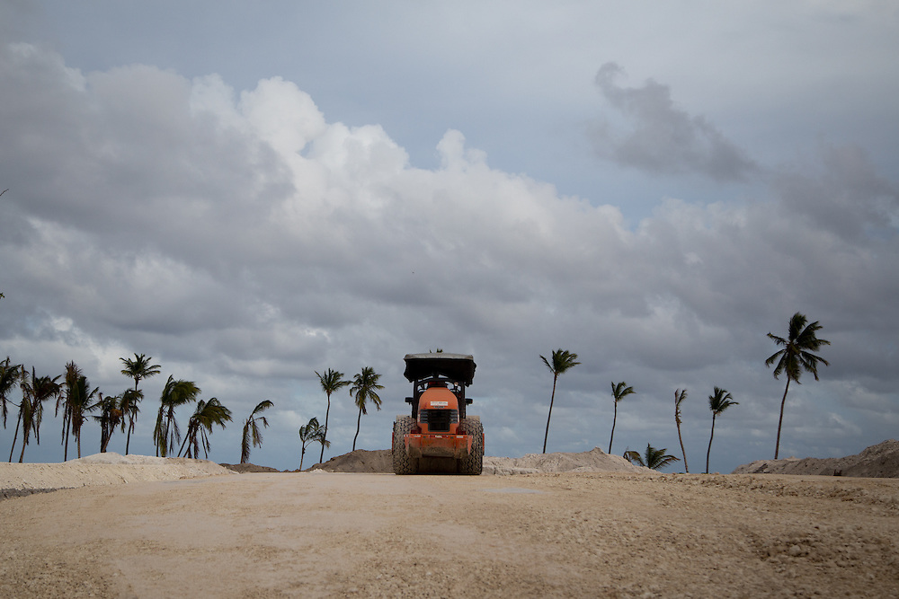 PUNTA CANA, DOMINICAN REPUBLIC-DECEMBER 3, 2014: Properties under construction in Punta Cana. Story on tourism to the Caribbean Island.  (Photo by Angel Valentin/Getty Images for Der Spiegel)