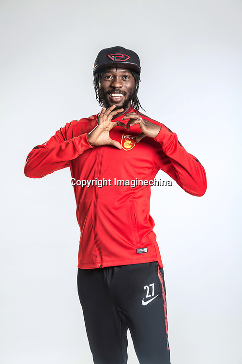**EXCLUSIVE**Portrait of Ivorian soccer player Gervais Yao Kouassi, better known as Gervinho, of Hebei China Fortune F.C. for the 2018 Chinese Football Association Super League, in Marbella, Spain, 26 January 2018.