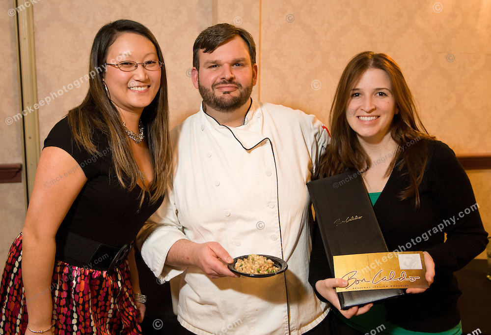 Kaitlyn Wakem, Adam Laliberte and Elizabeth Sullivan from Bon Caldo at Flavors of Neponset Valley 2011