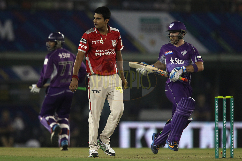 Karanveer SINGH of the Kings XI Punjab  during match 2 of the Oppo Champions League Twenty20 between the Kings XI Punjab and the Hobart Hurricanes held at the Punjab Cricket Association Stadium, Mohali, India on the 18th September 2014<br /> <br /> Photo by:  Ron Gaunt / Sportzpics/ CLT20<br /> <br /> <br /> Image use is subject to the terms and conditions as laid out by the BCCI/ CLT20.  The terms and conditions can be downloaded here:<br /> <br /> http://sportzpics.photoshelter.com/gallery/CLT20-Image-Terms-and-Conditions-2014/G0000IfNJn535VPU/C0000QhhKadWcjYs