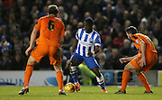 Brighton winger, Elvis Manu (19) during the Sky Bet Championship match between Brighton and Hove Albion and Ipswich Town at the American Express Community Stadium, Brighton and Hove, England on 29 December 2015.