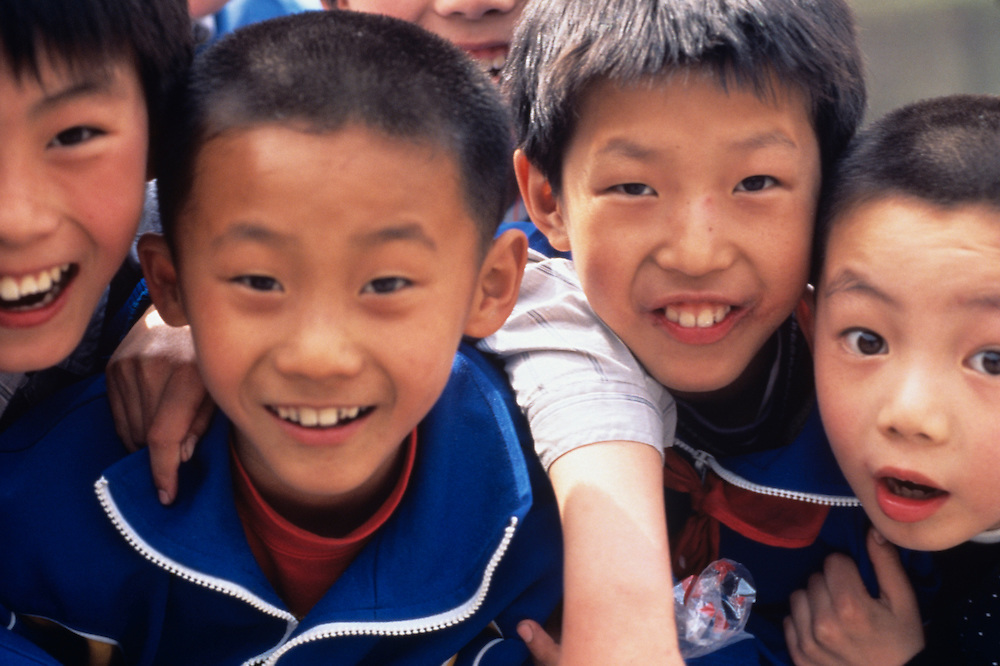 Beijing middle school children, China, PRC,, Middle Kingdom,
