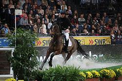 Jocelyn Daniel, (NZL), Beaucatcher<br /> Indoor Derby<br /> Stuttgart - German Masters 2015<br /> © Hippo Foto - Stefan Lafrentz