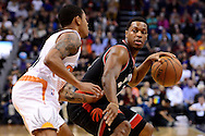 Dec 29, 2016; Phoenix, AZ, USA;  Toronto Raptors guard Kyle Lowry (7) handles the ball against \s in the first half of the NBA game at Talking Stick Resort Arena. The Suns won 99-91. Mandatory Credit: Jennifer Stewart-USA TODAY Sports