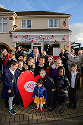 Pictured is Chris Heaton-Harris MP with pupils from Harpole Primary School at the event to officially open the new Harpole Post Office.<br /> <br /> Chris Heaton-Harris MP has officially opened the new Harpole Post Office at Harpole Village Store in High Street, Harpole, Northampton.<br /> <br /> Date: November 10, 2017
