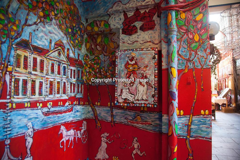 France, Paris. 2nd district . Passage des panoramas.  Historical Covered passages of Paris,