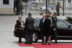 September 27, 2016 - Kiev, Ukraine - President of Ukraine Petro Poroshenko with The First Lady Maryna Poroshenko meets President of Israel Reuven Rivlin and his wife Nechama Rivlin during the first state visit to Ukraine, September 27, 2016. President of Israel Reuven Rivlin visits Ukraine for the first state visit. (Credit Image: © Sergii Kharchenko/NurPhoto via ZUMA Press)