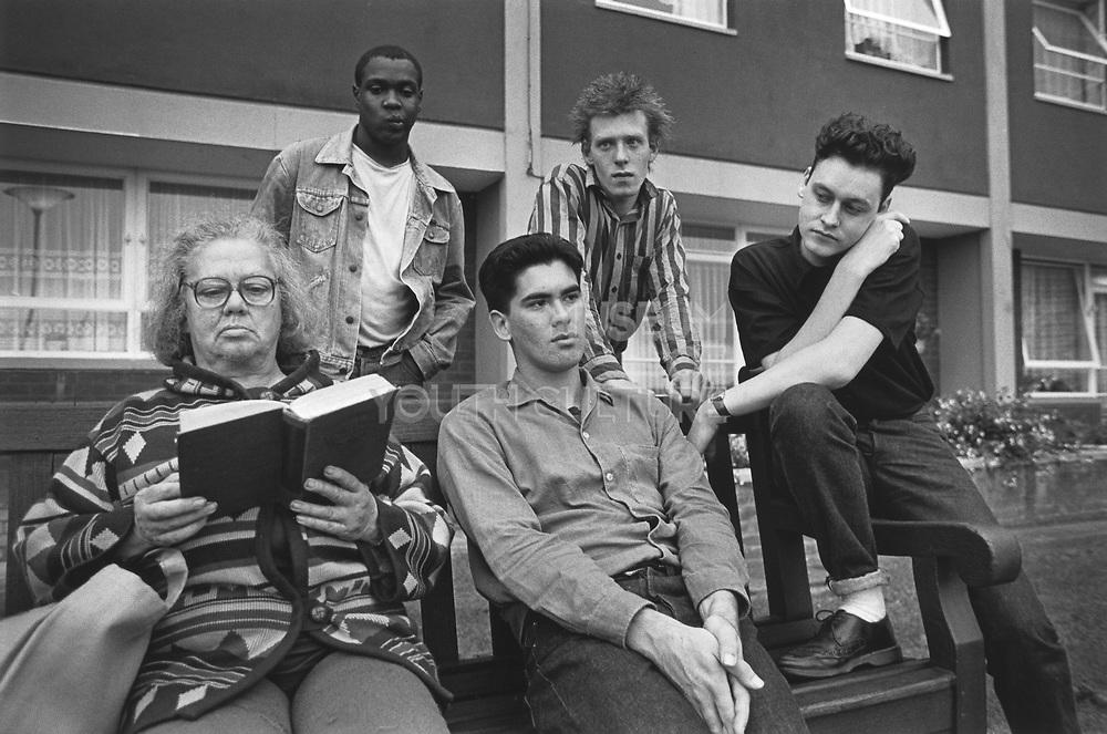 Brilliant Corners, NME shoot, Kingsdown, Bristol, 1985