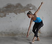 Chantal Labarge poses at Centro Promociõn de la Danza ballet school in Habana. She came from Canada to study ballet at the school.