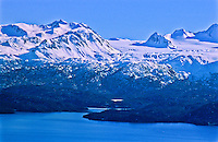 Kachemak Bay below Iceworm Peak and Dixon Glacier of the Kenai Mountains.  Kenai Peninsula, Alaska.