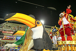 """A performer from the """"Unidos de Bangu"""" samba school participates in the first night of the annual Carnival parade at the Sambadrome in Rio de Janeiro, Brazil, Feb. 13, 2015. EXPA Pictures © 2015, PhotoCredit: EXPA/ Photoshot/ Xu Zijian<br /> <br /> *****ATTENTION - for AUT, SLO, CRO, SRB, BIH, MAZ only*****"""