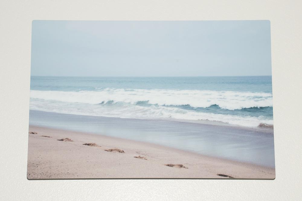 'Ocean Walk' photograph printed on metal.