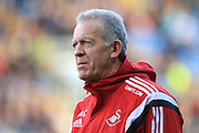 Swansea City manager Alan Curtis during the The FA Cup third round match between Oxford United and Swansea City at the Kassam Stadium, Oxford, England on 10 January 2016. Photo by Jemma Phillips.